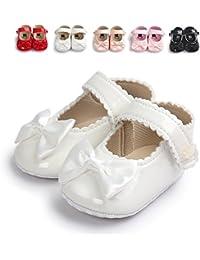 Infant Baby Girls Soft Sole Prewalker Crib Mary Jane Shoes Princess Light Shoes
