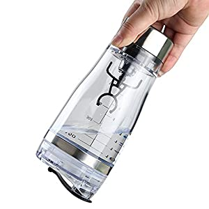StrongK Electric Drink Mixer and Infuser Shaker – Travel-Friendly Sports Bottle for Protein Powders, Milkshakes, Coffee & More – Handheld, Lightweight, Battery Powered