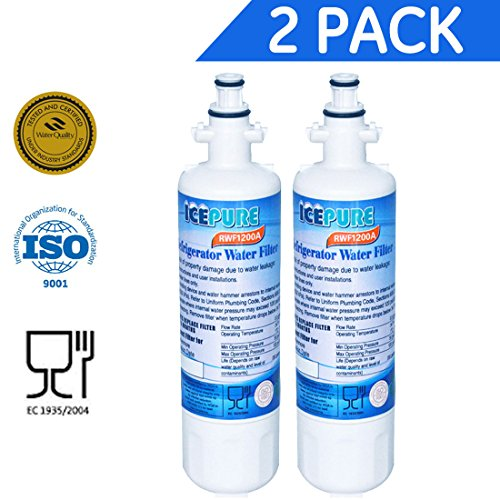 LG Refrigerator Filter for LT700P, ADQ36006101, Kenmore 46-9690 Replacement (2)