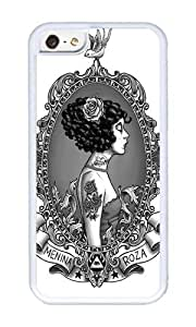 Apple Iphone 5C Case,WENJORS Adorable Menina Roza Soft Case Protective Shell Cell Phone Cover For Apple Iphone 5C - TPU White