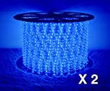 Boshen LED Rope Strip Lights for Home Parties Weddings Christmas Decoration, 36 LEDs/M 110V Flexible Rainbow Tube Light Water Resistant for Indoor Outdoor Use (Cuttable Every 3 Feet)
