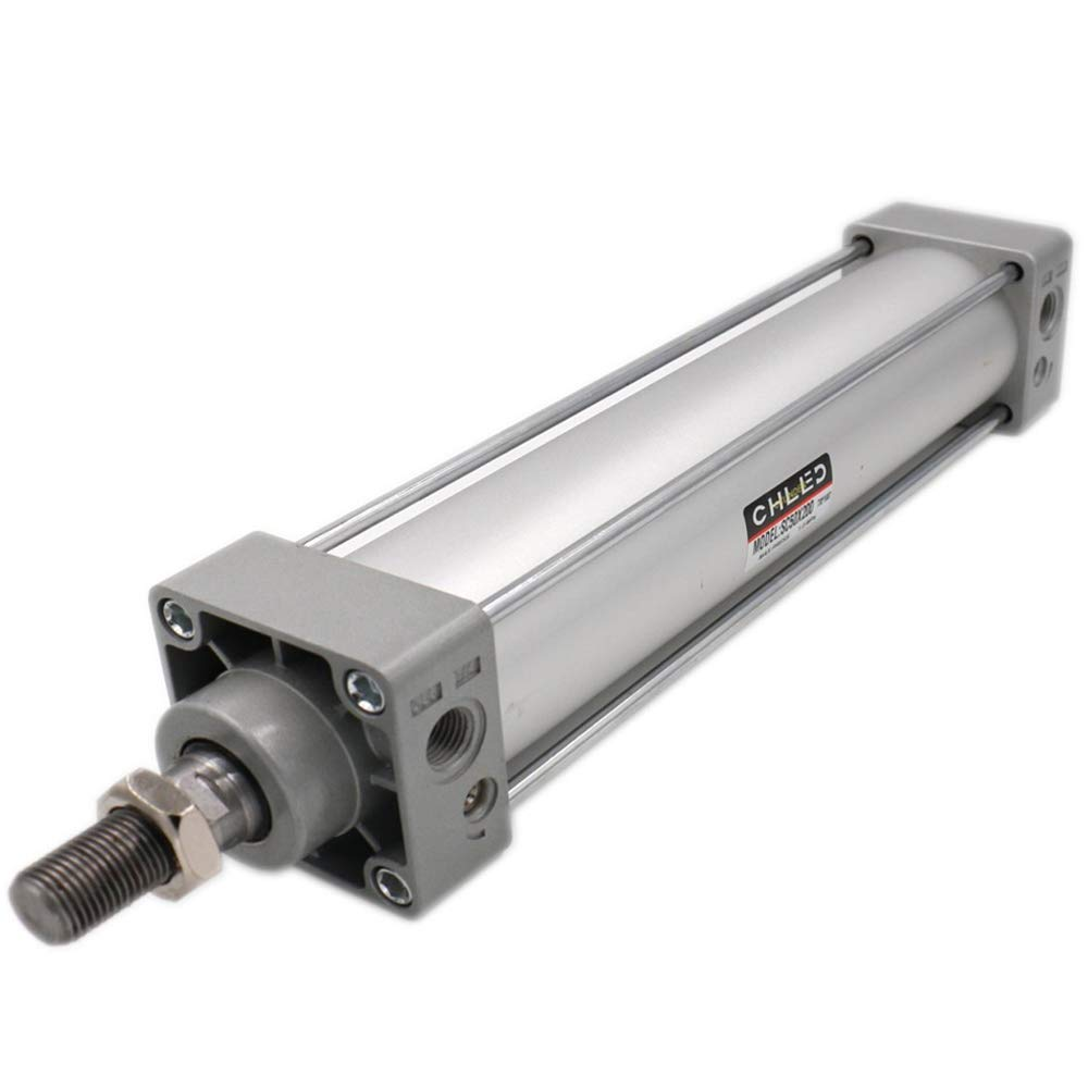 Woljay Pneumatic Air Cylinder SC 50 x 400 PT 1/8 Screwed Piston Rod Dual Action Bore: 50mm Stroke: 400mm