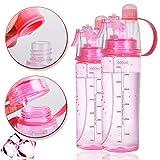 Mist Water Bottle,Sports Spray Bottle,Leak Proof Water Bottle for Kids,BPA free,0.6L