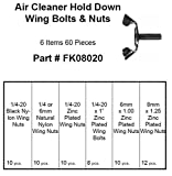 Air Cleaner Hold Down Wing Bolt & Nut Kit