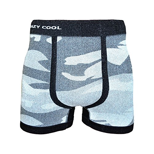 Crazy Cool Mens Comfortable Fun Nylon Seamless Short Boxer 6-Pack