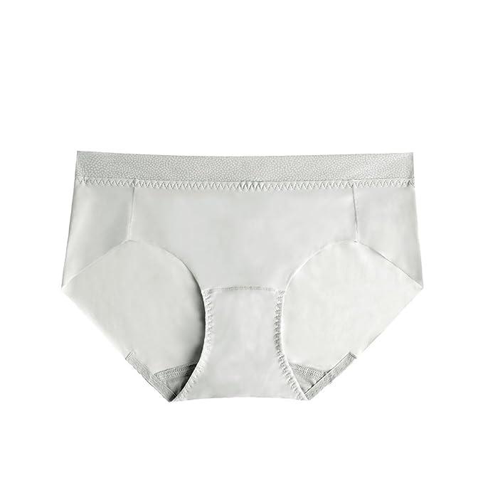 Señora delgada bajo las bragas de cintura puro color transpirable ropa interior sin costuras: Amazon.es: Ropa y accesorios