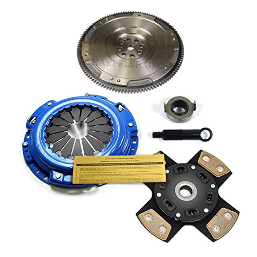 EFT 4-PUCK STAGE 3 CLUTCH KIT & CAST FLYWHEEL HONDA ACCORD PRELUDE 2.2L 2.3L Honda Prelude Flywheel
