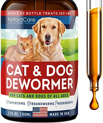 Dewоrmer for Dogs & Cats - Made in USA - Dewоrmer for Puppies, Kittens, Small & Large Breeds - Powerful Canine Dewоrmer for Hookwоrm, Roundwоrm, Tapewоrm - Liquid Cat Wоrmer with MAX Absorption