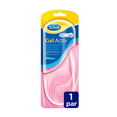 fdc5d085fa Image Unavailable. Image not available for. Color: Scholl Gel Activ Insoles  Flat Shoes by Dr. Scholl