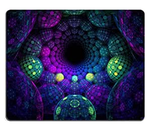 never ending vortex Disco Balls Purple Green Mouse Pads Customized Made to Order Support Ready 9 7/8 Inch (250mm) X 7 7/8 Inch (200mm) X 1/16 Inch (2mm) High Quality Eco Friendly Cloth with Neoprene Rubber MSD Mouse Pad Desktop Mousepad Laptop Mousepads Comfortable Computer Mouse Mat Cute Gaming Mouse_pad