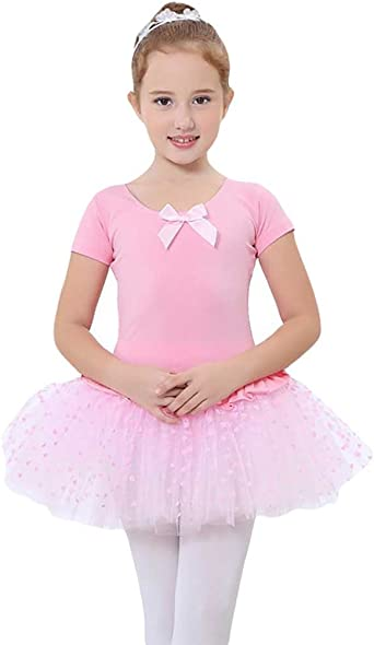 YouPue Niña Maillot Ballet Ropa Leotardo Manga Larga Vestido Falda ...