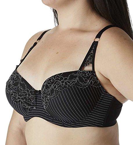 Ashley Graham Showstopper Convertible Lace Contour Bra (401455) 42DDD/Black