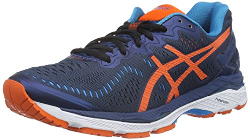 Asics Herren Gel-Kayano 23 Laufschuhe, Blau (Poseidon/Flame Orange/Blue Jewel), 44 EU