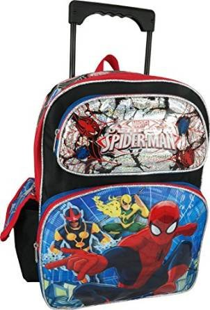 "Marvel Ultimate Spiderman Large 16"" Rolling Backpack"