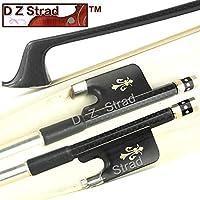 D Z Strad Cello Bow Carbon Fiber Bow with Ebony Fleur-de-Lis Frog (1/2 - Carbon Fiber)