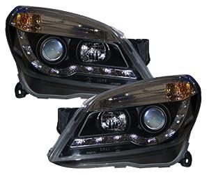 VAUXHALL ASTRA H MK5 BLACK R8 DRL STYLE HEADLIGHTS NEW ...