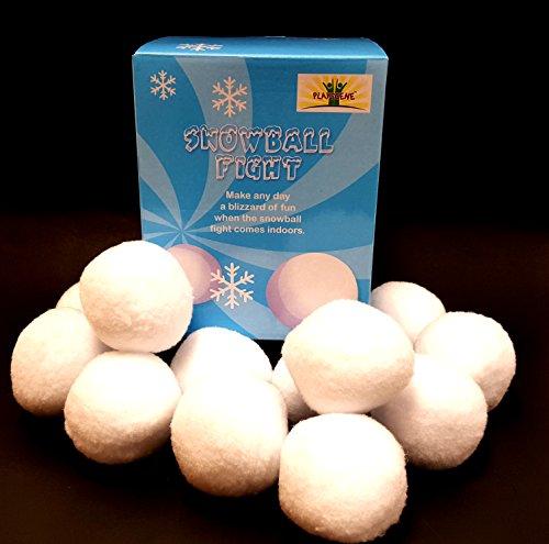 'Playscene' Indoor Snowballs, Snowball Fight Indoors! (12 Piece Set)