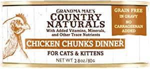 Country Naturals Grandma Mae's Chicken Chunks Dinner Case of 24-2.8 Oz Cans (856235007303)