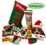 Dog Christmas Stocking Toys and More Bundle of 8 Pieces