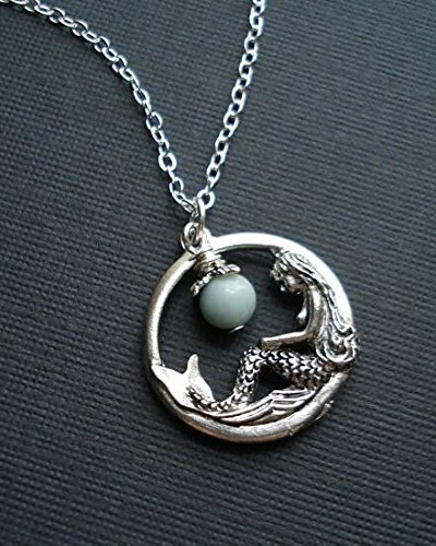 mermaid-necklace-in-silver-mermaid-pendant-fantasy-jewelry-blue-amazonite-stone-gift-for-her-under-2