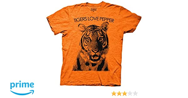 801f3bb185e Amazon.com  Ripple Junction The Hangover Tiger Loves Pepper Adult T-Shirt  Small Orange  Clothing