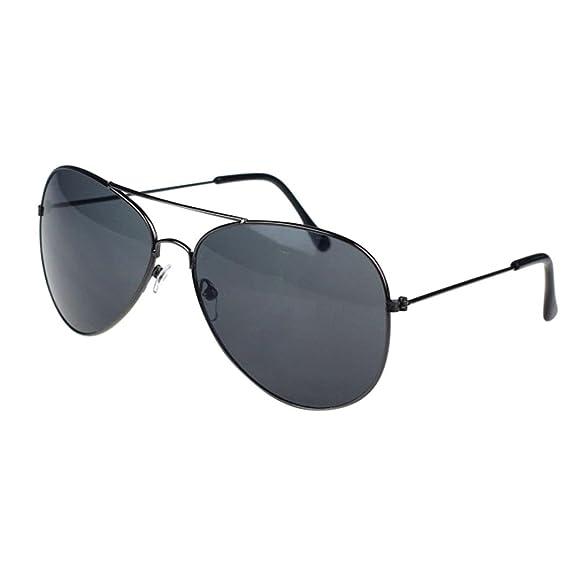 Gusspower Aviador de Metal Clásico Marco del Espejo Lente Gafas de Sol (Gris-Gris): Amazon.es: Ropa y accesorios