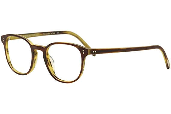 88f6302c63 Image Unavailable. Image not available for. Color  Oliver Peoples Rx  Eyeglasses Frames Fairmont 5219 1310 49x21 Amaretto Tortoise