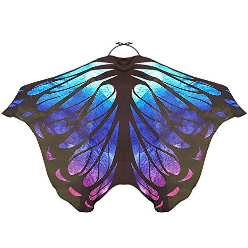 - LIVEBOX Women's Swimsuit Bikini Beach Cover Ups Butterfly Wings Pattern Chiffon Sarong Pareo Scarf Swimwear Shawl Wraps(Galaxy)