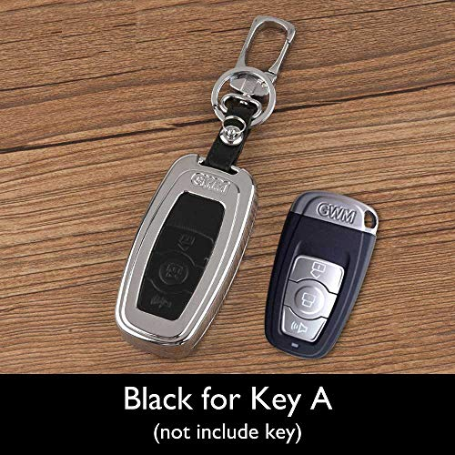 HITSAN ATOBABI Zinc Alloy+Leather Car Key Cover Case Shell Bag Great Wall Haval Hover H1 H2 H3 H5 C20 C30 M4 H6 Coupe Remote Keys