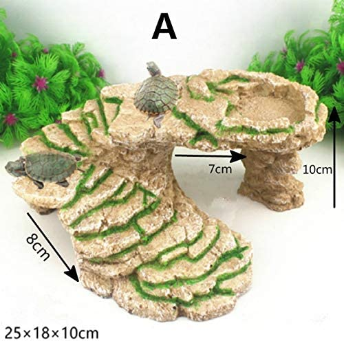 TWGDH Plataforma Acuario Tortuga Solarium Reptil Plataforma Tortuga acuática decoración del Acuario Anfibio Suba Fish Tank Escalera (Color : A, Size: Amazon.es: Productos para mascotas