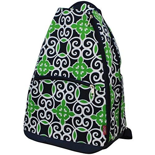 Geometric Themed Prints Racquet Backpack