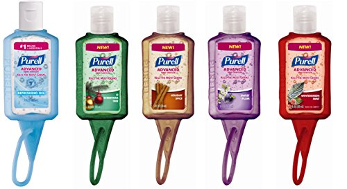 Purell Advanced Hand Sanitizer in Jelly Wrap Carriers, 1 Fl Oz, Scent May Vary, 5-Pack (Sanitizer Travel)
