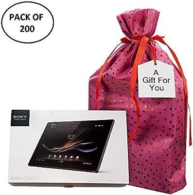 Amazon.com: Grande tela Premium bolsas de regalo (200 ...
