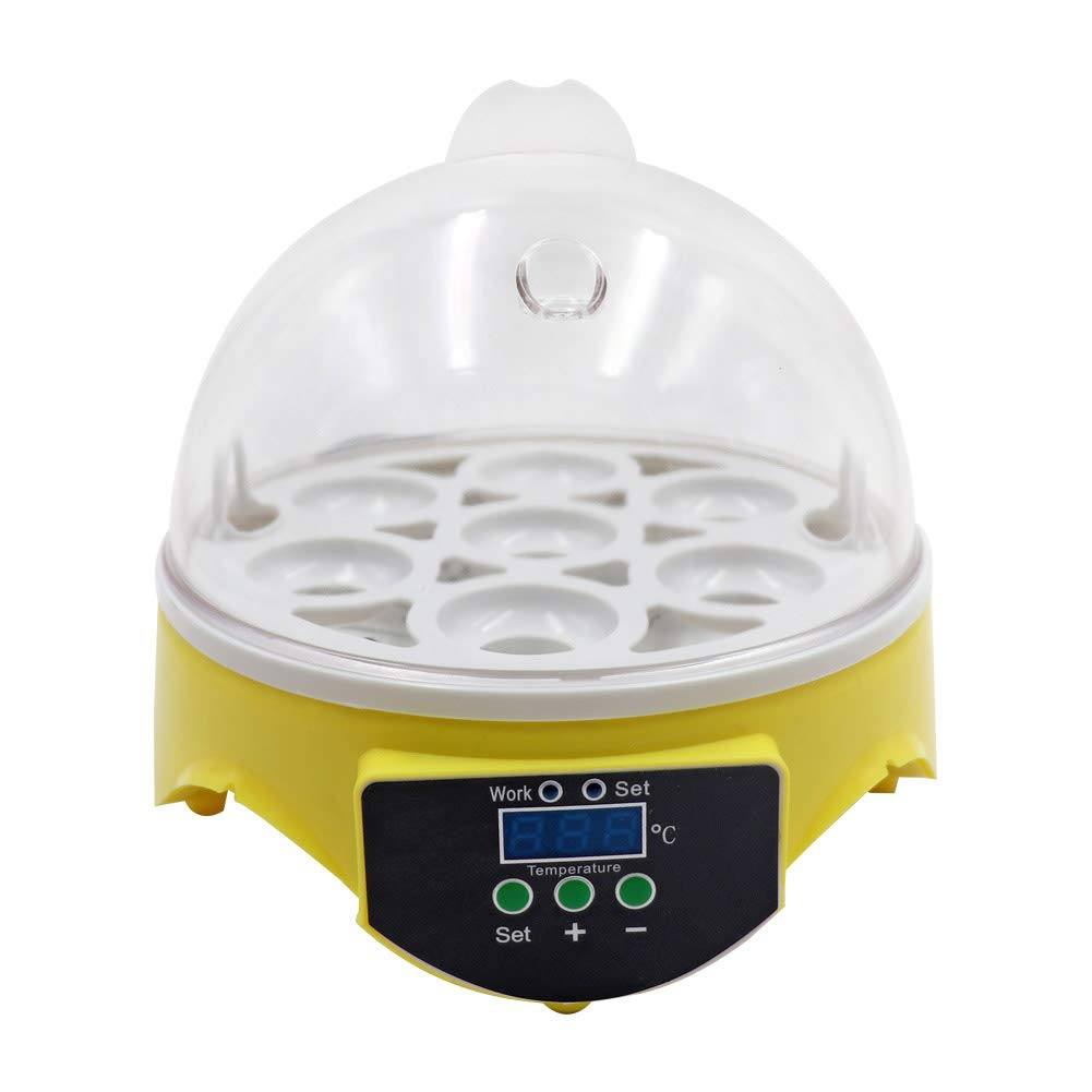 M.Z.A Mini Automatic 7 Egg Incubator Digital Chicken Poultry Hatcher Egg Hatcher Incubator with Automatic Temperature Control by M.Z.A (Image #1)