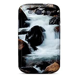High-quality Durability Case For Galaxy S3(waterfall And Rocks)