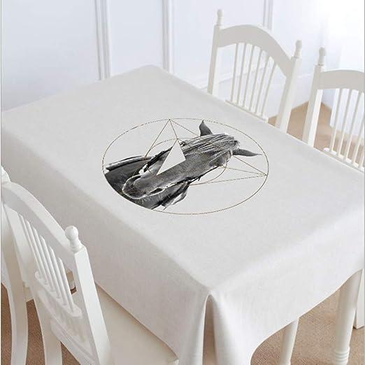 Manteles,Guapo gris bangs cabeza de caballo de la moda verde mantel de lino de algodón mantel interior cubierta, limpie mantel grande, utilizado para la mesa de la cocina escritorio decoración buff: Amazon.es: