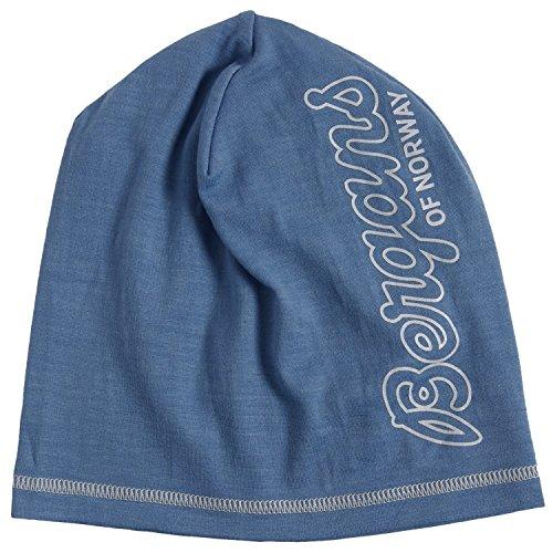 Bergans of Norway - Solid 100% Merino Wool Skull Beanie Hat (Dusty Light - Blue Norway Light