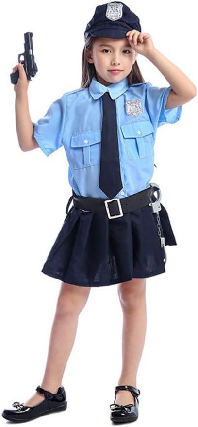 TOYANDONA Chica Uniforme de policía Vestido Esposas Juguete ...
