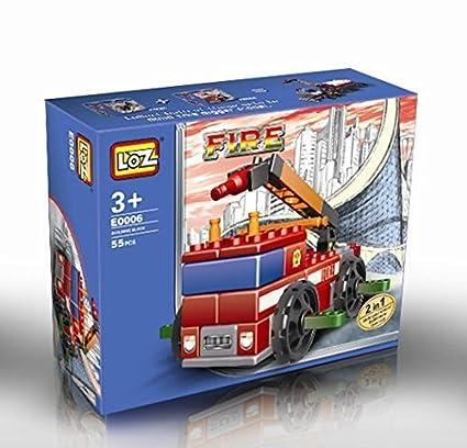 Amazon Fire Truck Nano Blocks 55pcs Fallow The Instructions 2