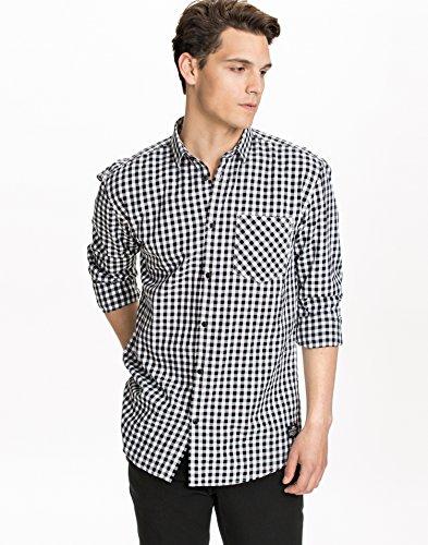 Jack & Jones Men's Astro Shirt Black Size Medium 100% cotton.