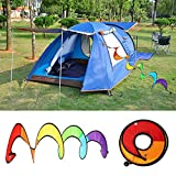 GMSP Colorful Foldable Rainbow Spiral Windmills Home Garden Camping Tents Decorations.