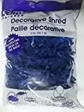 1 Bag of Blue Crinkle Cut Paper Shred for Gift Packaging Wrap Basket Filling