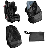 AmerStar Car Seat Bag with Pouch, Bonus Luggage Tag, with Padded Straps, Gate Check, Universal Size Travel Bags Fit Most Carseats, Airport Flying with Baby, Airplane Easy Carry
