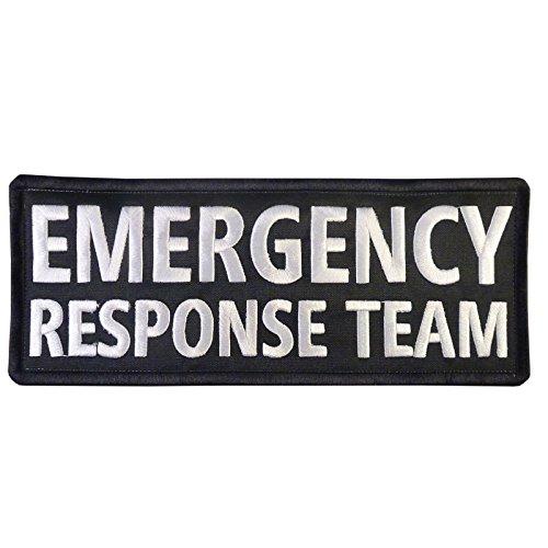 (LEGEEON Emergency Response Team Big XL 10x4 inch Vest Tactical Embroidered Nylon Fastener)