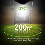 Solar Lights Outdoor 120 LED with Lights Reflector