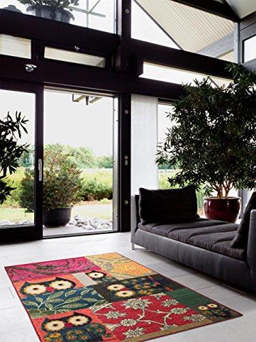 benuta Teppiche: Kinderzimmer Teppich Eule Patchwork Multicolor 120x180 cm - Oeko-Tex Standard 100-Siegel - 100% Polypropylen - Vintage / Patchwork - Maschinengewebt - Kinderzimmer