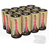 Arlo Certified: Tenergy 3.7V Li-ion Rechargeable Battery Arlo Security Cameras (VMC3030/VMK3200/VMS3330/3430/3530) 650mAh RCR123A UL UN Certified 12 Pack, 3X Battery Cases