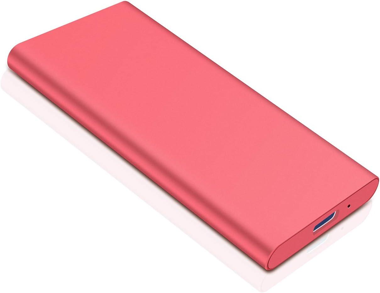 Disco Duro Externo 1 TB Disco Duro Externo Type C USB3.1 para PC 1TB,Plata Xbox One MacBook. Mac