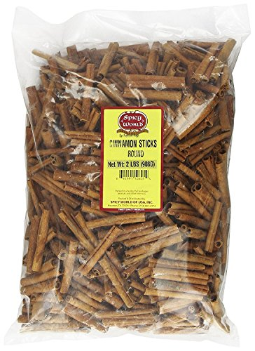 Spicy World Cinnamon Sticks 2 Pounds ~ 100 to 150 Sticks 3 Inches Length Cassia Cinnamon]()
