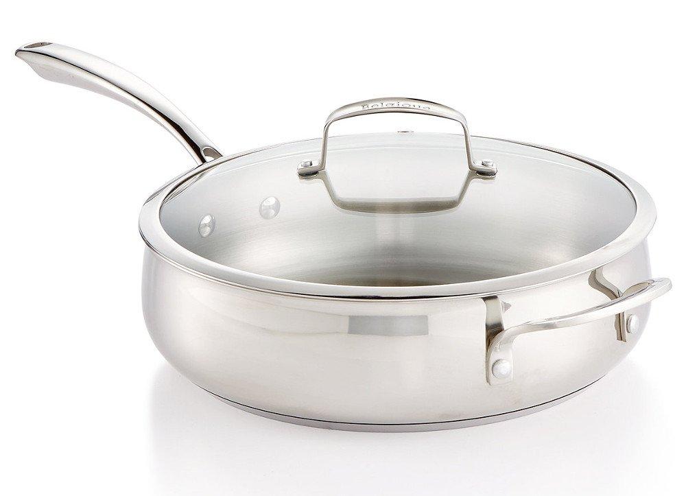 Belgique Stainless Steel 5-Qt. Sauté Pan with Lid